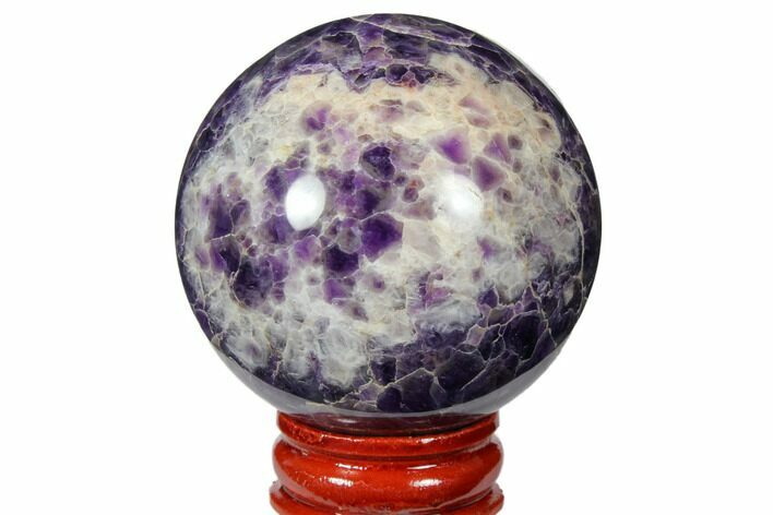 "2.1"" Polished Chevron Amethyst Sphere"